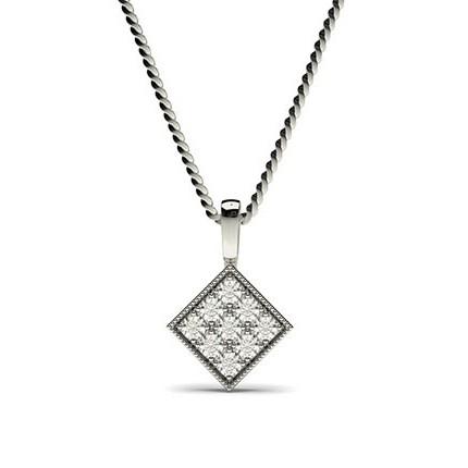 Runder Petite Diamantanhänger in einer Pavefassung