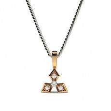 Rose Gold Ready To Deliver Diamond Pendants