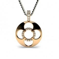 Rose Gold Delicate Diamond Pendants