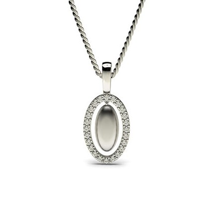 0.15ct. Prong Setting Round Diamond Delicate Pendant