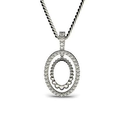 Runder Petite Diamantanhänger in einer Krappenfassung