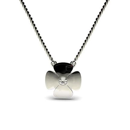 0.05ct. Full Bezel Setting Round Diamond Delicate Pendant