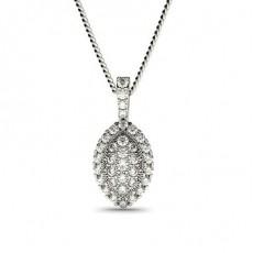 Platin Versandbereite Diamant Anhänger