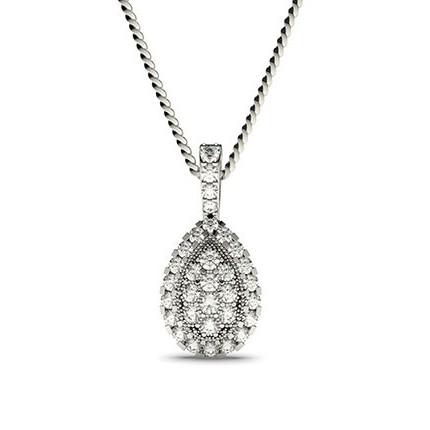 4 Krappen Diamantanhänger in Clusterform mit Pavefassung