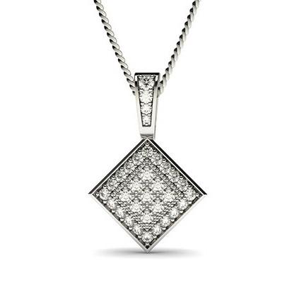 4 Krappen Diamantananhänger in Clusterform mit Pavefassung