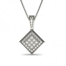 Weißgold Versandbereite Diamant Anhänger