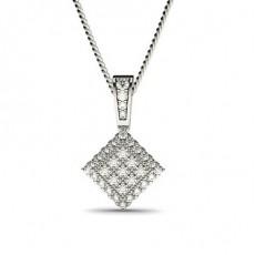 Pave Setting Round Diamond Cluster Pendant - CLPD570_15