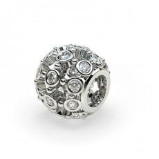 Full Bezel Set Round Diamond Charms - CLPD607_01