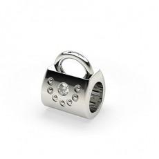 Flush Set Round Diamond Charms - CLPD607_02
