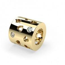 Flush Set Round Diamond Charms - CLPD607_06