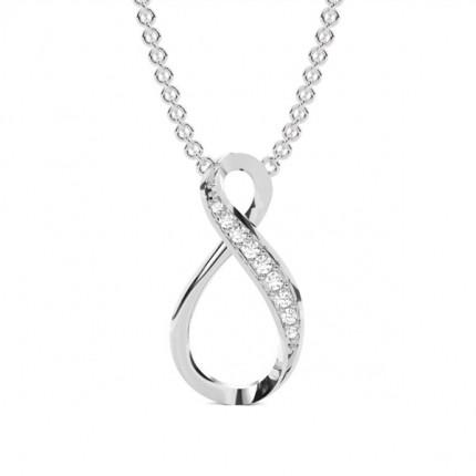 Pendentif tendance diamant rond serti pavé