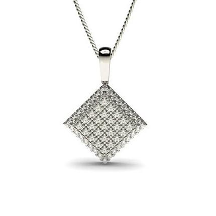4 Krappen Diamant Anhänger in Clusterform mit Krappenfassung