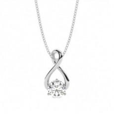 Pendentif solitaire diamant rond serti 3 griffes - CLPD690_01