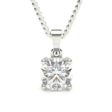 Diamant Anhänger in einer Krappenfassung