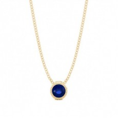 Yellow Gold Solitaire Diamond Pendants Necklaces