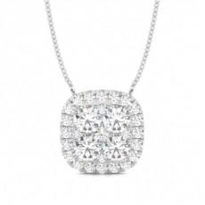 Pendentif illusion diamant rond serti 4 griffes 2.00ct - CLPD1149_01