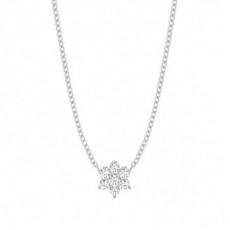 Pendentif illusion diamant rond serti 4 griffes 0.10ct - CLPD1150_01