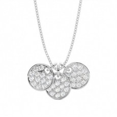 Round Designer Diamond Pendants Necklaces