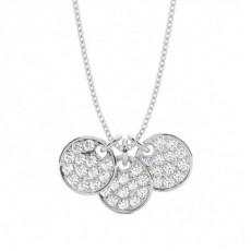 Silver Designer Diamond Pendants Necklaces