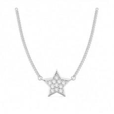 Runder Petite Diamantanhänger in einer Eingeriebenefassung