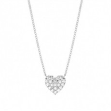 4 Prong Setting Round Diamond Heart Pendant - CLPD1161_01