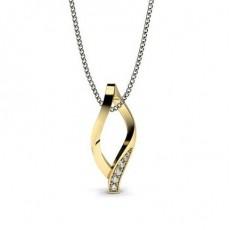 Yellow Gold Delicate Diamond Pendants
