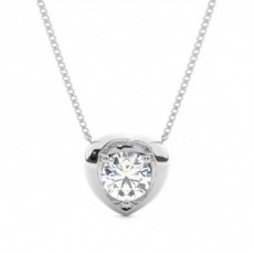 3 Prong Setting Classic Solitaire Pendant (Available from 0.90ct. from to 1.00ct.)