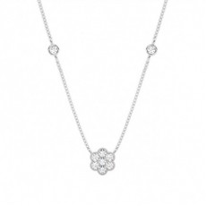 Round Delicate Diamond Pendants
