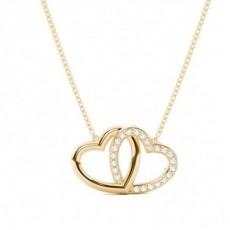 Gelbgold Herzen Anhänger Halsketten