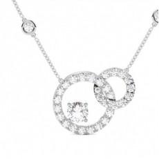 Pendentif illusion diamant rond serti 4 griffes 1.00ct - CLPD1266_01