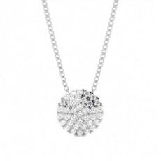 Pendentif illusion diamant rond serti pavé 0.35ct - CLPD1272_01