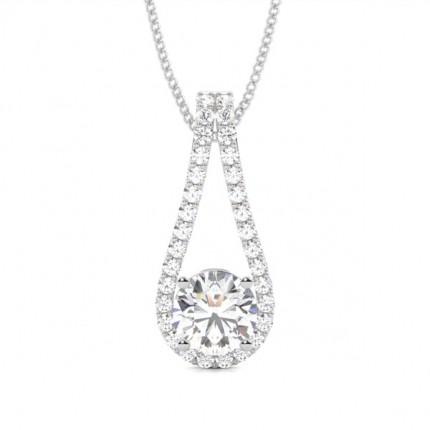 Runder Diamant Designer Anhanger in einer Krappenfassung