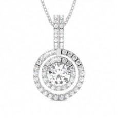 Pendentif illusion diamant rond serti 4 griffes 1.55ct - CLPD1275_01