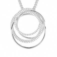 Prong Setting Round Diamond Designer Pendant