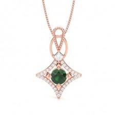 4 Prong Setting Emerald Designer Pendant - CLPD1944_EM_01