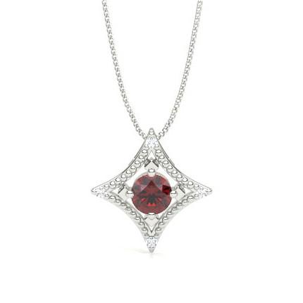 4 Prong Setting Gemstone Designer Pendant