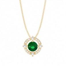 4 Prong Setting Emerald Designer Pendant - CLPD1948_EM_01