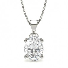 Oval Solitaire Pendant
