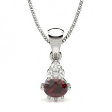 Prong Setting Ruby Solitaire Pendant