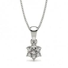 Pendentif Diamant Rond Serti Griffes