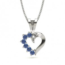 White Gold Heart Pendants
