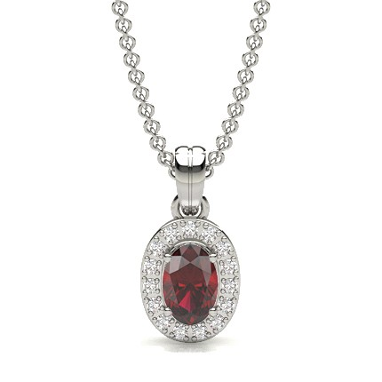 4 Prong Setting Ruby Solitaire Pendant