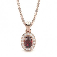 Oval Or Rose Pendentifs