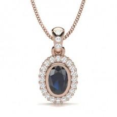 Rotgold Diamant Anhänger & Halsketten