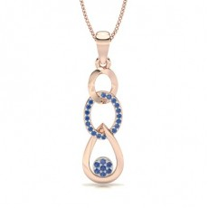 Rond Or Rose Pendentifs