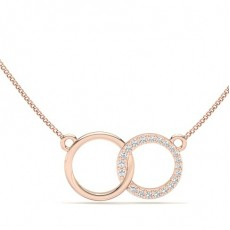 Rond Or Rose Pendentifs Tendance