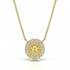 Or Jaune Pendentifs Diamant Jaune