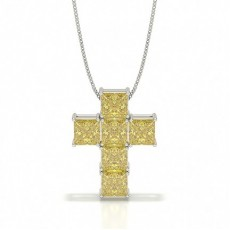 Princess Cross Diamond Pendants