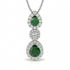 Pear Shape Emerald Journey Pendant