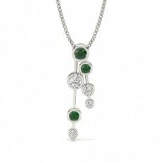 Silber Journey Anhänger Halsketten